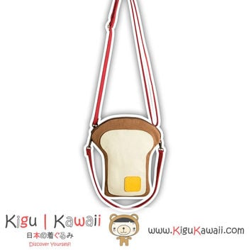 New Extraordinary Toasted Bread Shoulder Bag Harajuku Style Japanese School Messenger Bag KK717