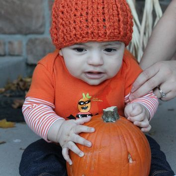 Pumpkin Baby Crochet Hat
