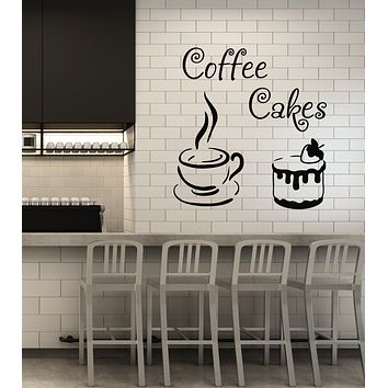 Vinyl Wall Decal Coffee House Cakes Kitchen Dining Room Decor Stickers Mural (ig6099)