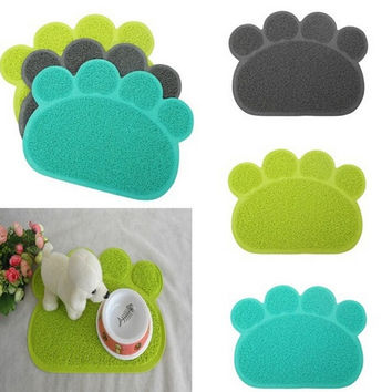 Home Pets Paw Shape Placemat Feet Mat Fashion Dog Cats Sleeping Feeding Radiating  Pads = 1929539716