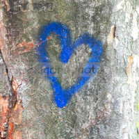 "Urban Art Heart - Blue Valentine Home Decor - Street Photography - 8""x10"" Ready To Frame"