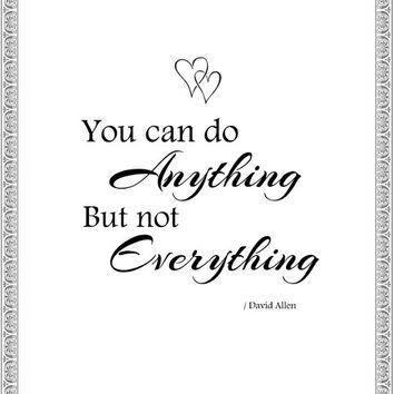 You can do anything Printable - Wall Art - Decor - Print - Instant Download