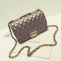 Chanel Women Chain Handbags Shoulder Bag Inclined Shoulder Bag