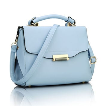 Candy Color Summer Shoulder Bags For Girls  Small Women Bags Women PU Leather Handbags ladies hand