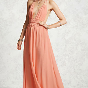 Contemporary Smocked Maxi Dress