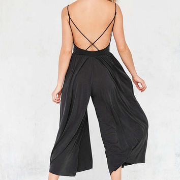 Silence + Noise Molly Cupro Culotte Jumpsuit - Urban Outfitters