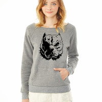 pitbull ladies sweatshirt