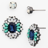 Topshop Rhinestone Stud Earrings (Set of 2)