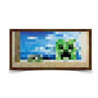 J!NX : Minecraft Creeper Window Poster