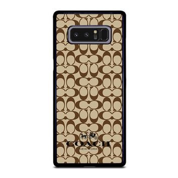 COACH NEW YORK BROWN Samsung Galaxy Note 8 Case Cover