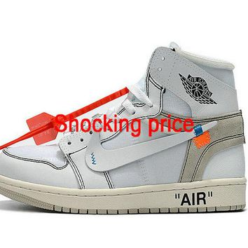 Original Air Jordan 1 X Off White White shoe
