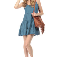 Chambray Flutter Day Dress