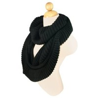 Amazon.com: Premium Winter Knit Warm Infinity Scarf, Black: Clothing