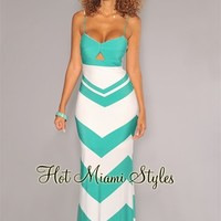Jade Ivory Peep-Hole Maxi Dress