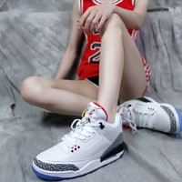"[ Free Shipping ]Nike Air Jordan 3 Retro NRG 923096-101""Dunk Contest""  Basketball Sneaker"