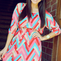 Candy Hearts Dress: Pink/Blue   Hope's