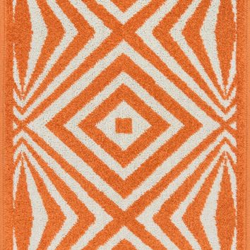 Loloi Terrace Ivory / Orange Area Rug
