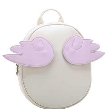 Wing Design Preppy Backpack