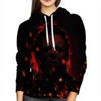 Michael Myers Red Womens Hoodie