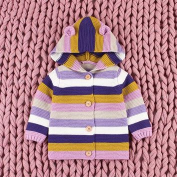 Winter Clothes Toddler Baby Boy Sweater Baby Children Clothing Boy Girls Knitted Cardigan Sweater Kids Spring Knit Sweaters