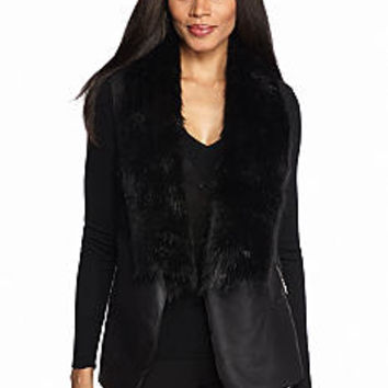 Nine West Jeans Sophy Faux Fur Vest - Belk.com