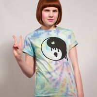 Hand Tie Dyed Yin Yang T Shirt S, M or L