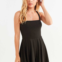 UO Straight-Neck Cross-Back Romper | Urban Outfitters