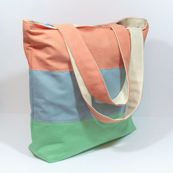 Linen Beach Bag, Linen Tote Bag, Summer Beach Bag, Zipper Tote Bag, Bridesmaid Tote Bag, Teacher Tote Bag, Beach Tote Bag, Large Beach Bag