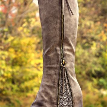 Southern Sass Boots - Gray - (PRE-ORDER)