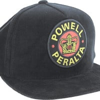 Powell Peralta Supreme Corduroy Hat Snap Back Black