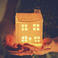 Miniature Glowing House - Fine Art 10 '' x 8'' Photographic Print