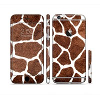The Real Giraffe Animal Print Sectioned Skin Series for the Apple iPhone 6s Plus