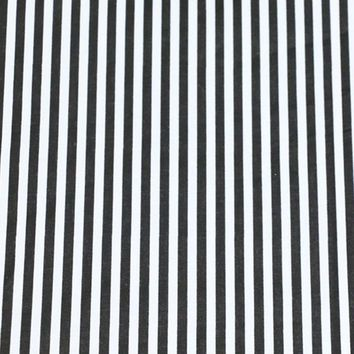 100% cotton twill cloth geometric simple black and white stripe fabric for DIY crib bedding cushions home decor handwork  tissue