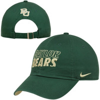 Nike Baylor Bears Heritage 86 Campus Adjustable Performance Hat - Green/Gold