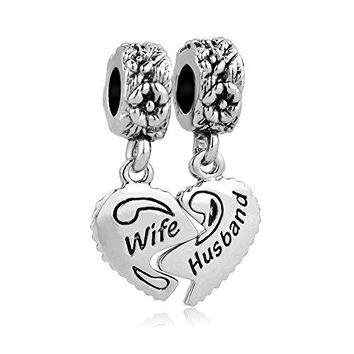 AUGUAU Valentines Day Gifts LovelyJewelry Wife & Husband Charms Love Family Celtic Knot Dangle For Bracelets