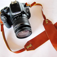 Leather Camera Strap Brown/Beige/Dark Chocolate/Maroon/Black/Classic Red