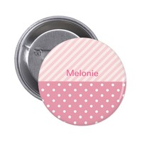 Spring Pink Patterns Pinback Button