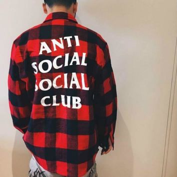 QIYIF Anti Social Social Club Falnnel Shirt