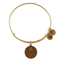 Alex and Ani Star Of Venus Charm Bangle - Russian Gold