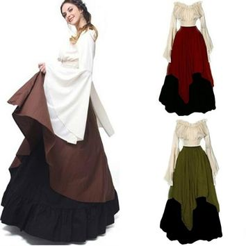 Women's  Medieval Dress Renaissance Women Cosplay Dress - Free Shipping