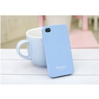Happymori Silicon Slim Fit Case for Apple Iphone 4-Blue + Free Screen Protector+Free Cleaning Cloth
