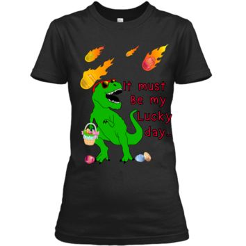 Easter dinosaur shirt for women men boys girls Ladies Custom