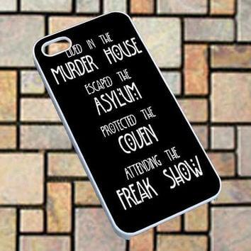 American horror story asylum  -  Phone case for iPhone 4/5/5s/5c/6,/S3/S4/S5,ipod touch 5, Series.**