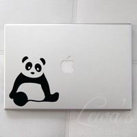 Panda Small Laptop / Macbook / Notebook Computer by lewasdesigns