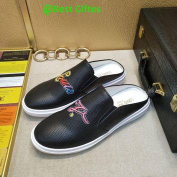 GUCCI Men Flats leather Sneakers Sport Shoes sandal Best Quality