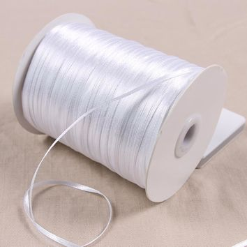 25 Yards 3 mm Width Handmade DIY Material Silk Satin Ribbon For Arts Crafts Sewing Christmas Wedding Party Decoration Gift Wrap