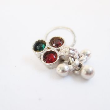 Vintage Indian Silver Nose Ring