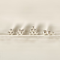 Nose Stud Nostril Ala nose Piercing  Earring Sterling Silver Screw Stud Body Jewelry  Bohemian Fashion Indian Style - VARIOS Balls
