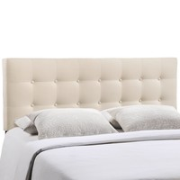 Emily Queen Upholstered Fabric Headboard Ivory MOD-5170-IVO