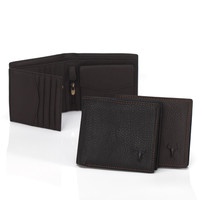 Men Leather Big Size Big Capacity Zippers Wallet [9026287747]